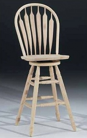 "Unfinished Wood 30"" Swivel Bar Stool"