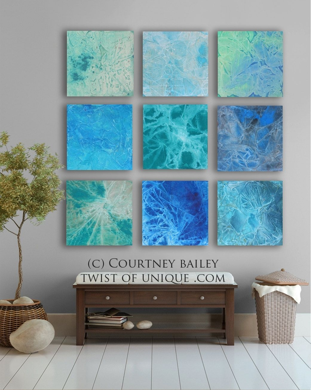 Vivid abstract art 11 square custom