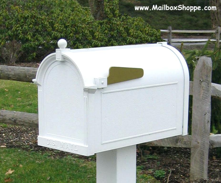 Whitehall mailbox cast aluminum post mount mail box