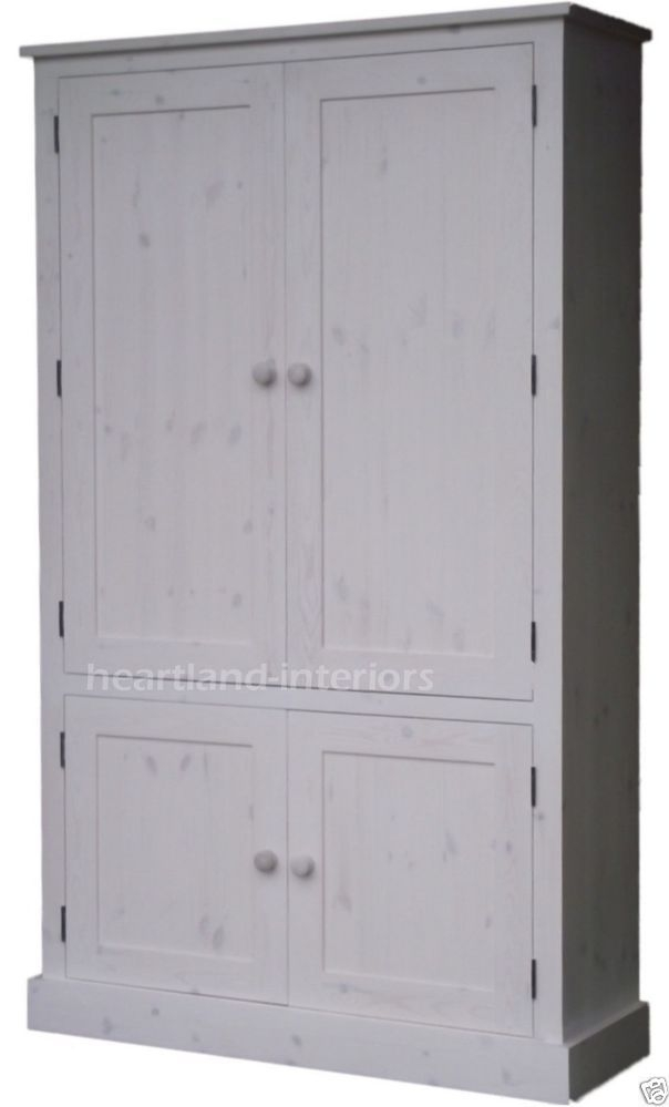 Genial 100 Solid Wood Cupboard 172cm Handcrafted Storage Linen Shoe Pantry