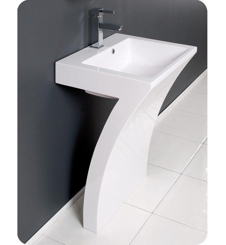 Charmant 22 5 Quadro Pedestal Single Bath Vanity Pedestal Sink Vanities