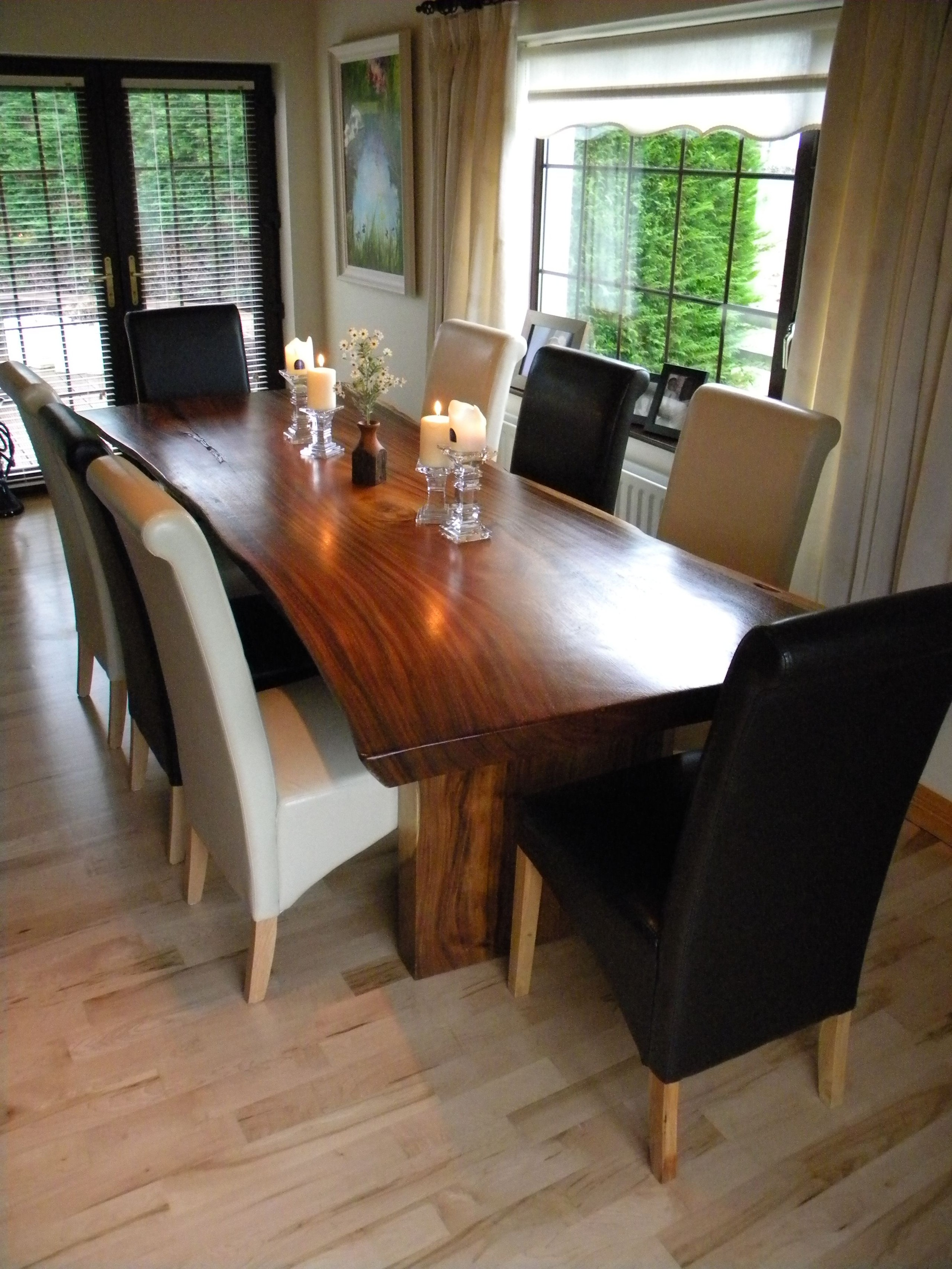 8 Seater Black Dining Table