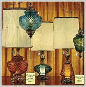 Amber glass table lamp foter amber glass table lamp aloadofball Image collections