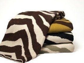 Animal print throw blankets