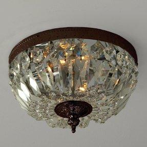 Antique brass ceiling light foter antique brass ceiling light aloadofball Gallery