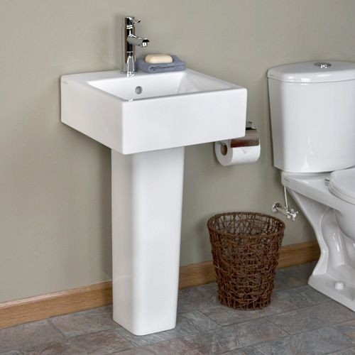 Arena Pedestal Sink The Square Shape Of This Small Pedestal