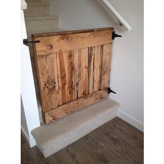 Barn wood baby or pet gate 1