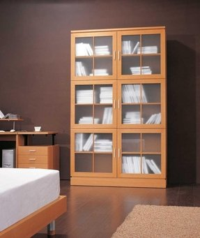 Bookcase With Glass Front
