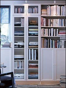 Bookcase With Mirror Doors
