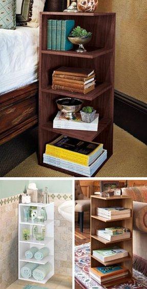 Cable spool bookcase