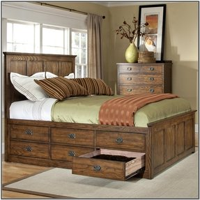 of good size wood drawer bed queen hobson making design dennis frames drawers with image