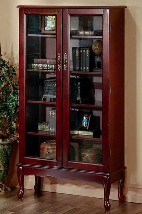 Cherry bookcase with doors