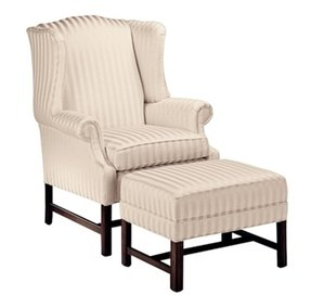 Chippendale wingback chair 10