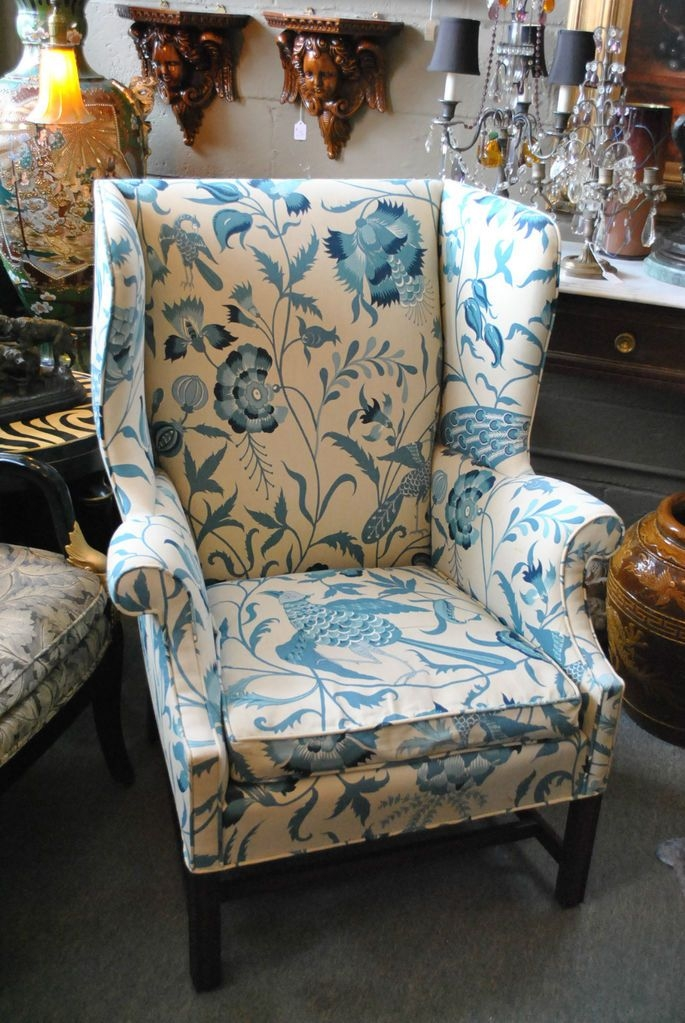 Chippendale Wingback Chair 13