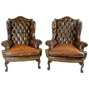 Chippendale wingback chair 17