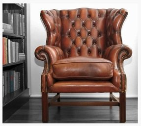 Chippendale wingback chair 3