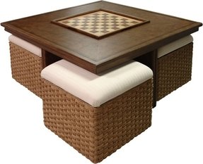 Coffee Table With Nesting Ottomans Foter