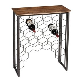 Console table with wine rack 4