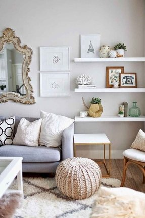 floating shelves in living room. Corner floating shelves Floating Shelves  Foter