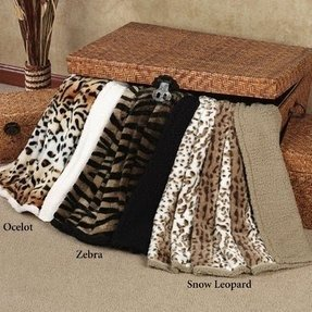 Cow print blanket throw