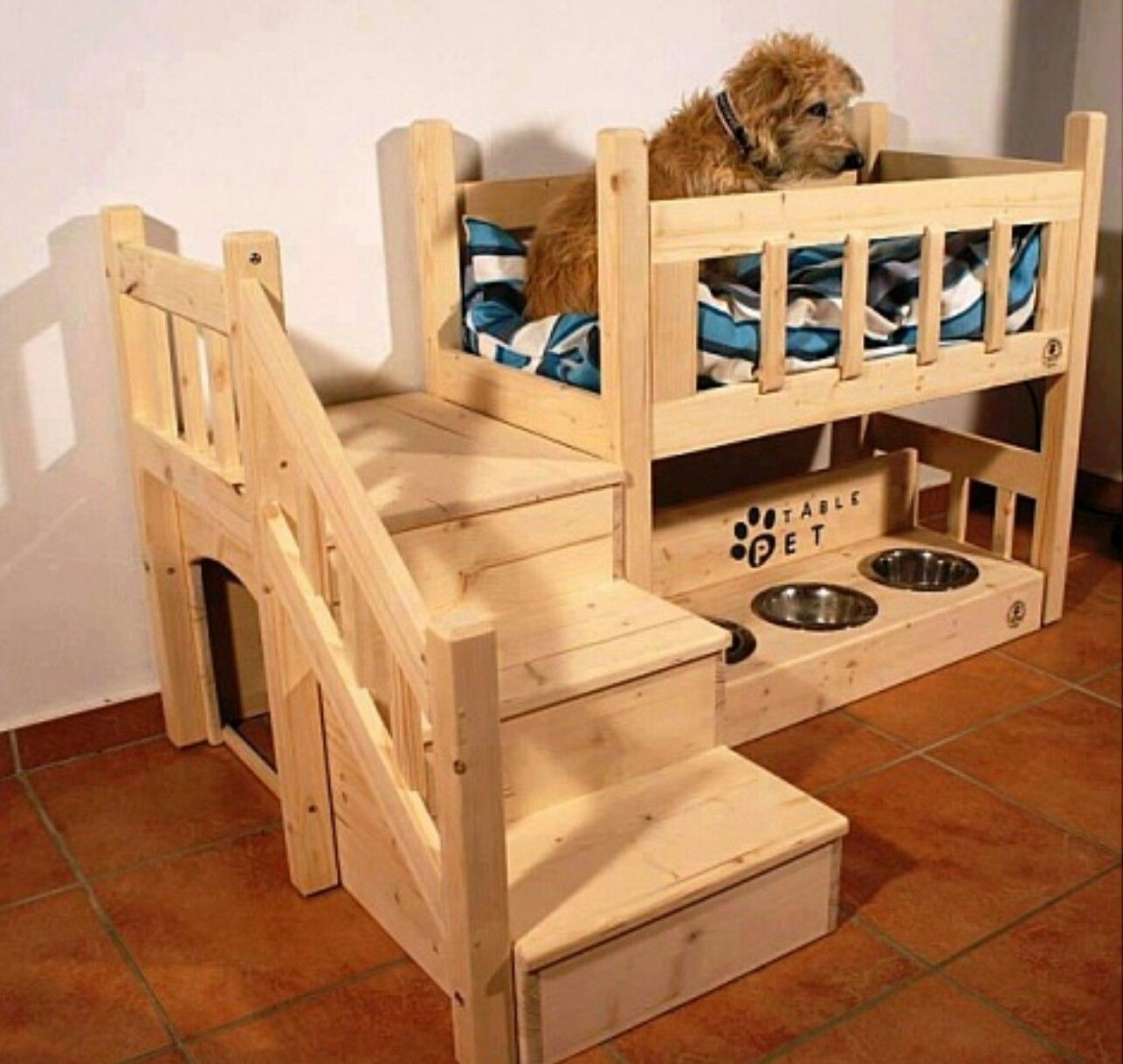 Dog Bed Nightstand With Steps