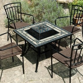 Fire pit table with lid 3