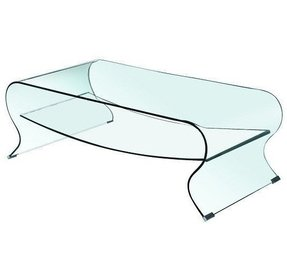 Glass coffee table with shelf 7