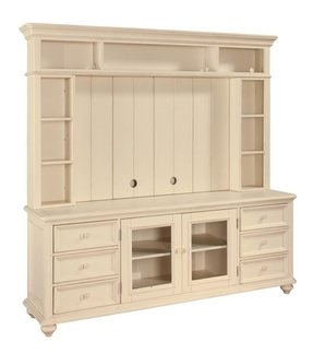 Hadley Pointe Antique White Tv Stand Entertainment Center Shabby Console