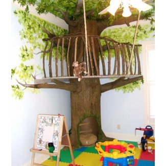 Indoor tree house 1