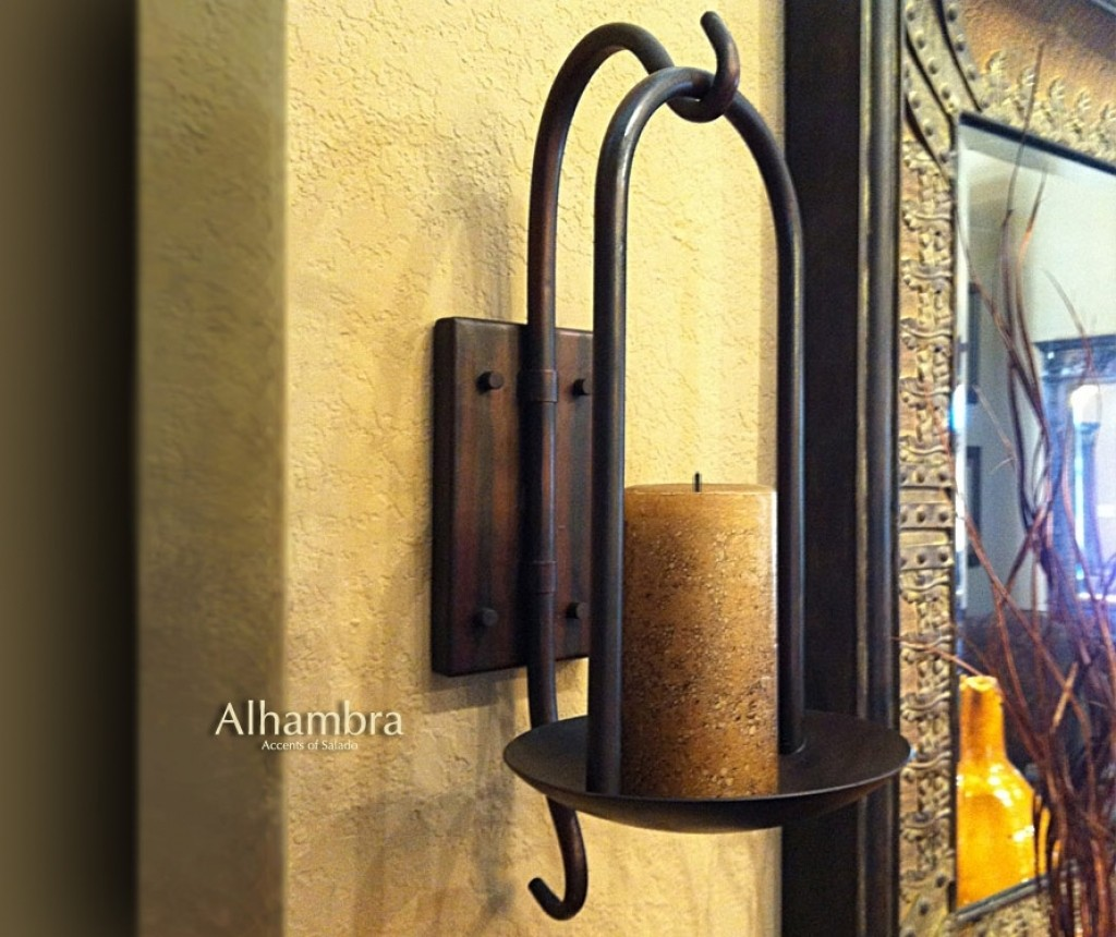 Iron Candle Wall Sconce - Foter