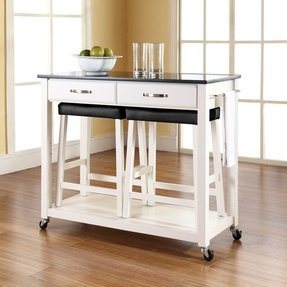 Kitchen cart with stools