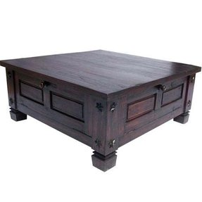Large Square Wood Coffee Table 1