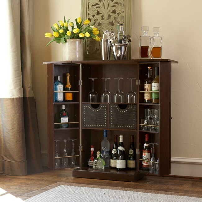 Etonnant Lockable Bar Cabinet 2