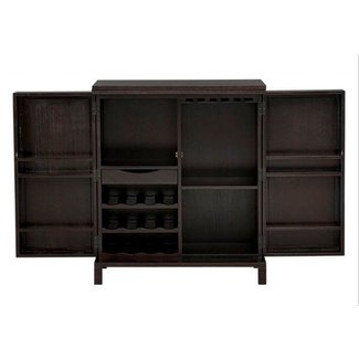Lockable bar cabinet