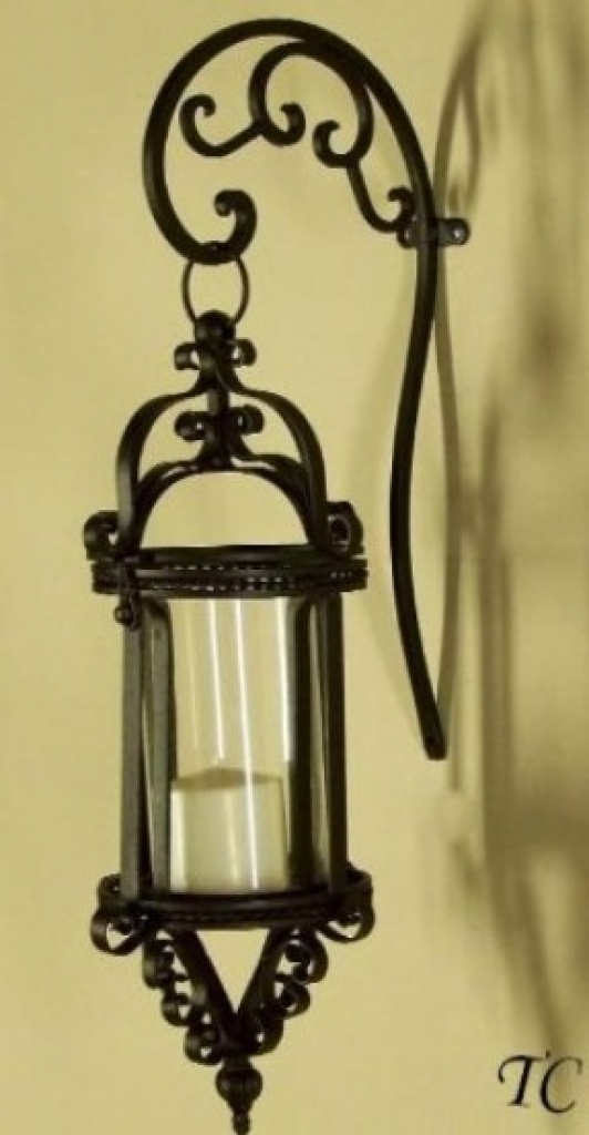 Elegant Metal Wall Sconce Candle Holder