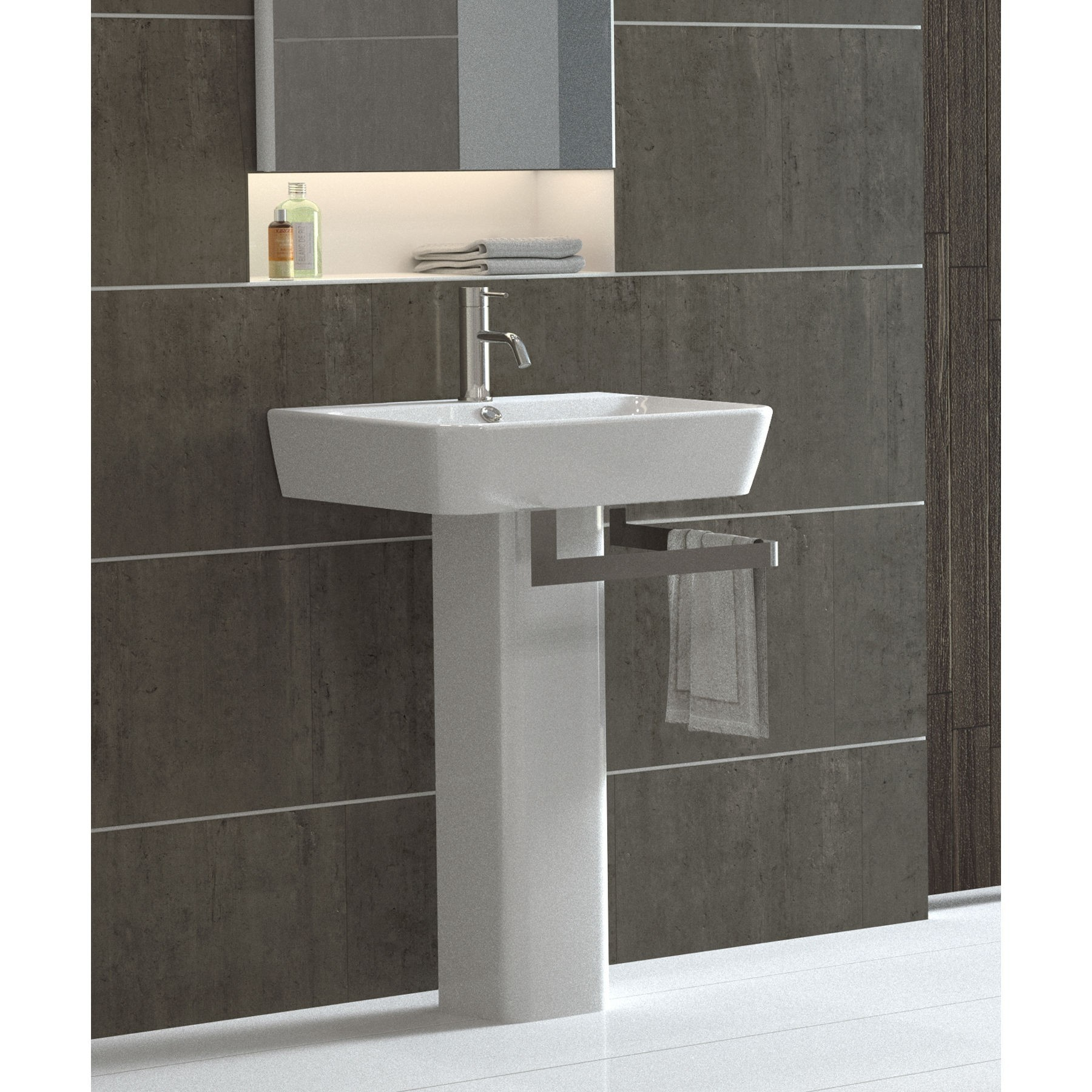 Gentil Modern Pedestal Sinks For Small Bathrooms