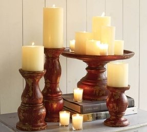 Large Wooden Candle Holders Foter