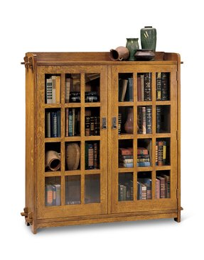 Oak Bookcases With Gl Doors