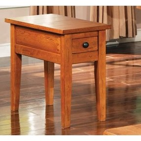 Oak chairside table 26