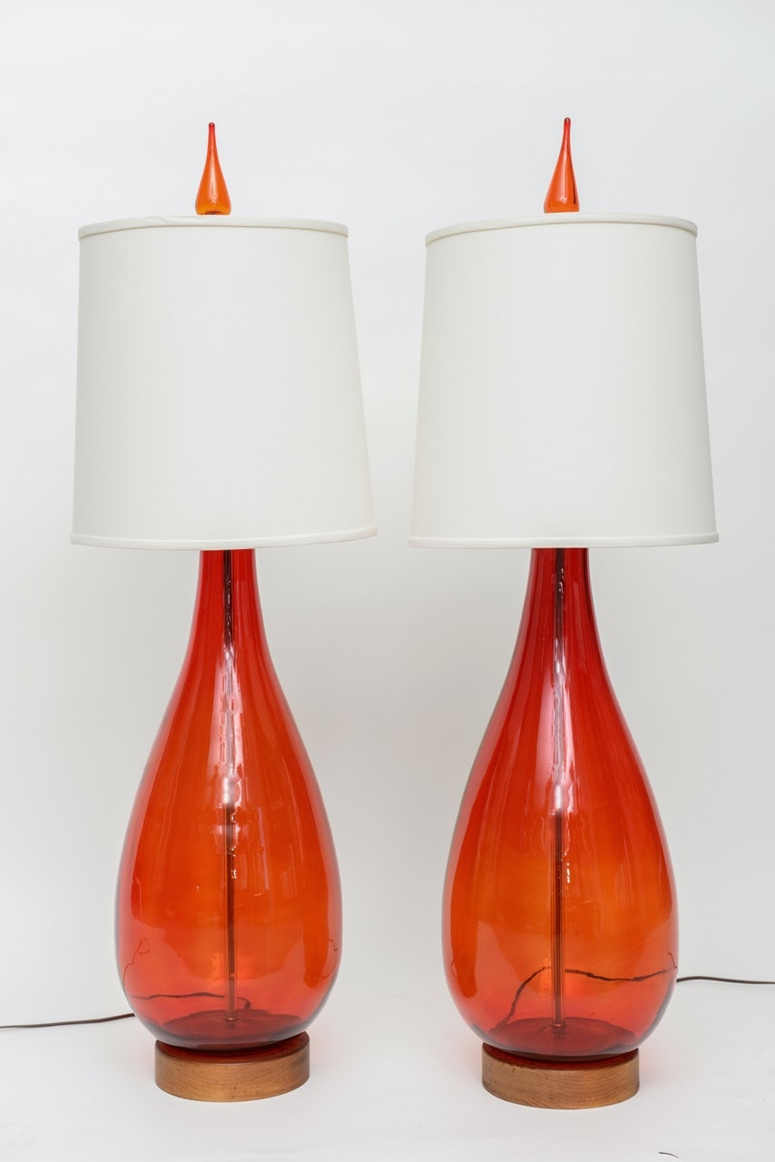Orange Glass Lamp 1