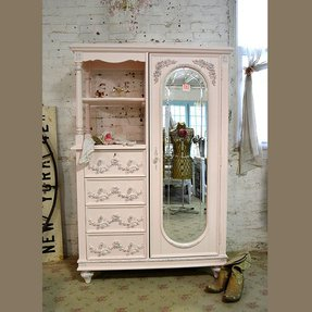 Painted cottage chic shabby pink french 1