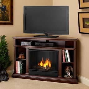 Real flame churchill 51 ventless tv stand with gel fuel