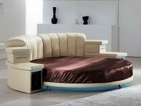 Round leather couch 5