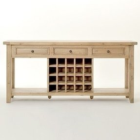 Sofa Table With Wine Rack Ideas On Foter