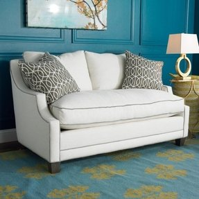 Soft modern petite upholstered sofa whether you are downsizing or