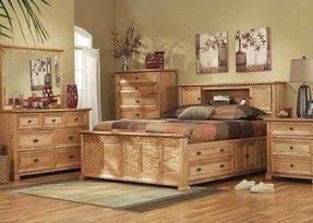 Solid Oak Storage Bed