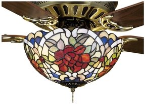 Stained glass ceiling fan light shades foter stained glass shades aloadofball Images