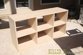 Tall cube bookcase