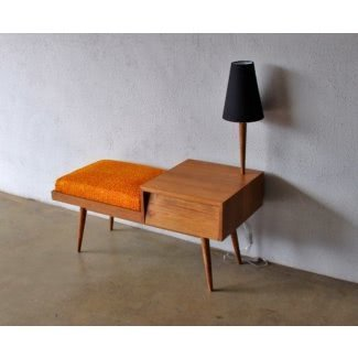 Telephone table with seat