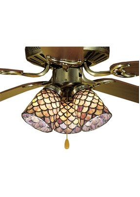 Tiffany style ceiling fan light shades foter tiffany style ceiling fans mozeypictures Choice Image